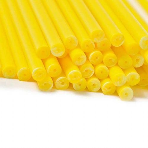 Yellow Cake Pop / Lollipop Sticks 15cm - Pack of 20